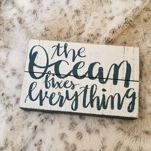 ⭐$5 Sale⭐ The Ocean Fixes Everything wooden sign